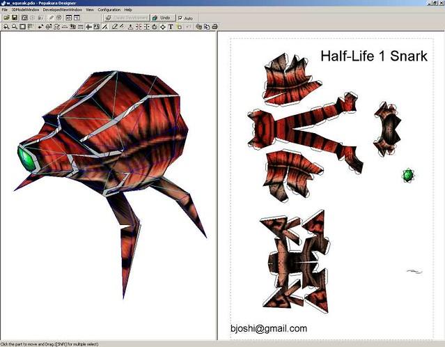 Nod >> snark_unfold_beta | beta of the half-life 1 snark papercraft… | Bhautik Joshi | Flickr