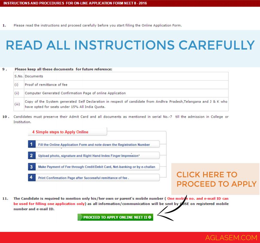 NEET 2017 Application Form