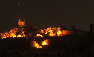Golconda fort - light and sound | by abhinaba