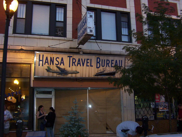 lincoln square hansa travel bureau chicago i took this flickr. Black Bedroom Furniture Sets. Home Design Ideas