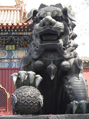 Foo Dog With Pup With Pup For Sale