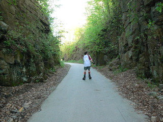 Huckleberry Trail: Tony Skates Between Rocks | by Vicky TGAW