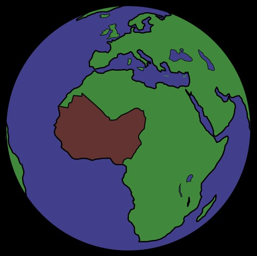 Outline of West Africa West Africa Earth | by