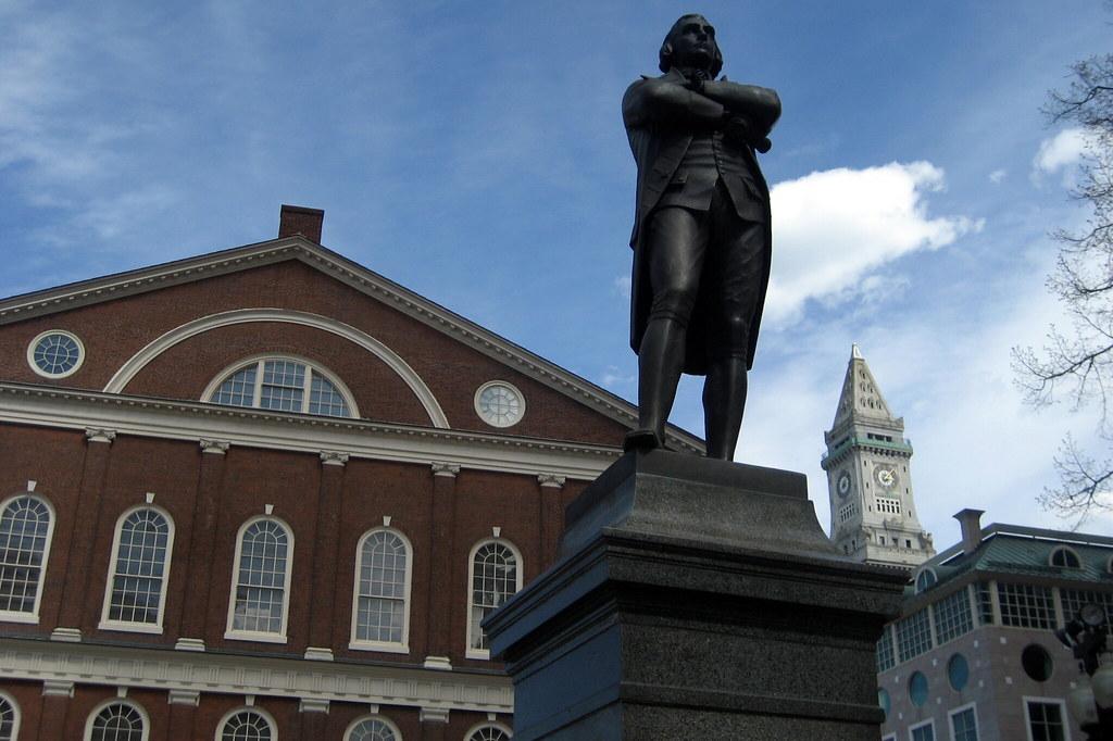 Boston Freedom Trail Faneuil Hall Samuel Adams Statu