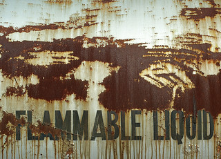 Grunge Textures: Flammable Liquid | by Craig Jewell Photography