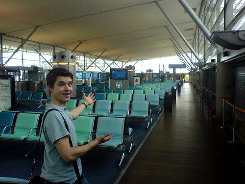 Phil finds the empty airport surprising | by TomNatt