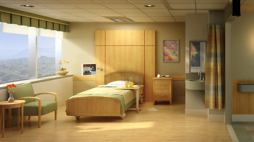 Patient Room Just Finished Hospital Room 3 4 Modeled By