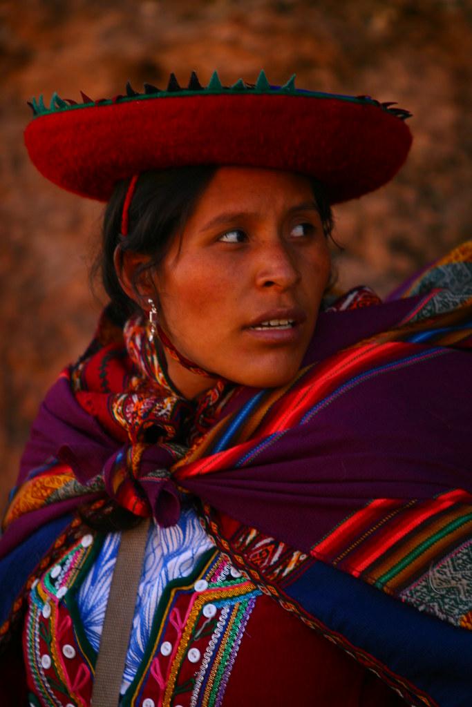 Peruvian Woman In A Market