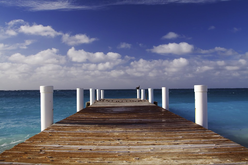 Grace Bay Beach Pier | Taken on my vacation in Turks and ...