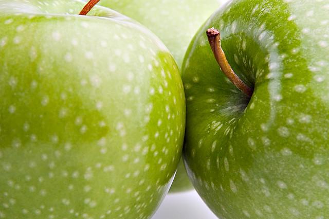 Green Apples 20x30 Metallic Print 11x14 16x20 Black