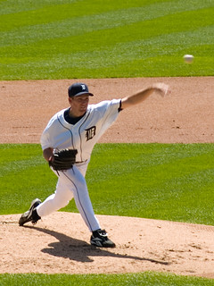 Mike Maroth delivering a pitch, Comerica Park, Detroit, April 2007 | by Conlawprof