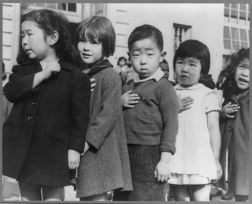 No Known Restrictions: Pledge of Allegiance by Dorothea Lange, 1942 (LOC) | by pingnews.com