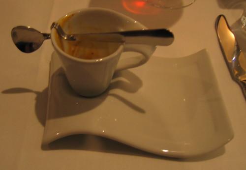 mise en bouche le cappuccino de cr me de homard l huile flickr. Black Bedroom Furniture Sets. Home Design Ideas