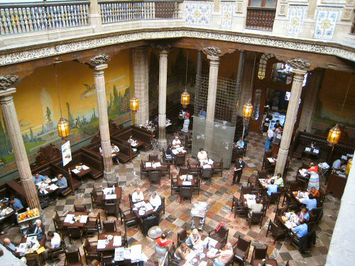 Sanborns centro we sat upstairs but you can kind of see for Casa de los azulejos centro historico