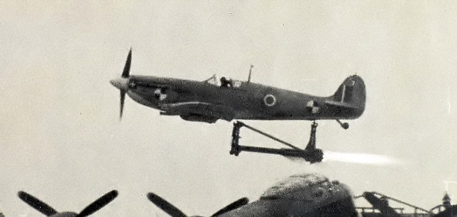 Seafire rocket catapult launch gone wrong Farnborough