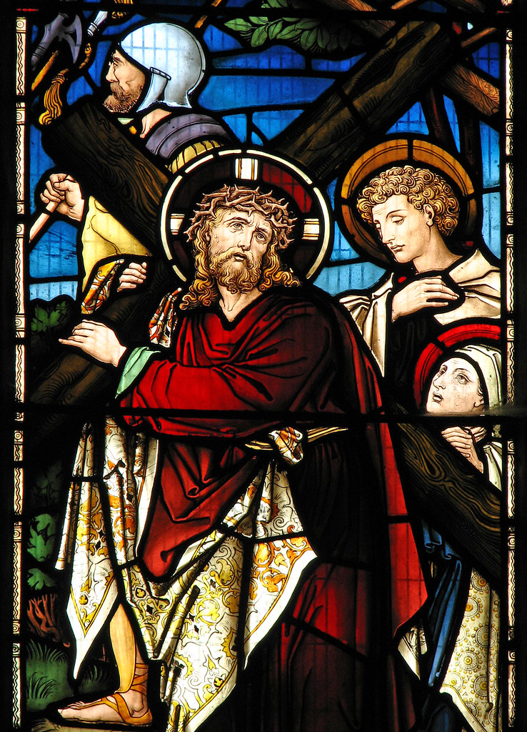 christ carrying the cross at cropredy parish church flickr
