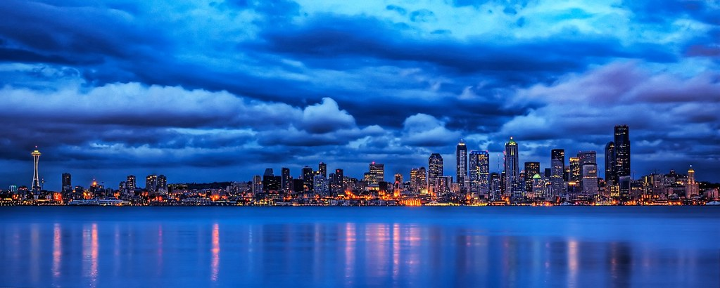 Seattle Blues This Is A Photo Of The Seattle Skyline