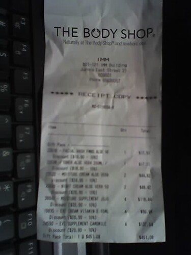 The Body Shop Receipt | Andre Pan | Flickr
