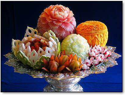 The beautiful and delicate art of Thai fruit carving (which I found on the Net) | by The Gifted Photographer