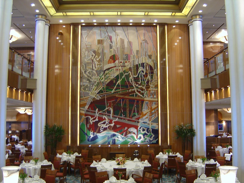 QM2 Queen Mary 2 Tapestry In The Britannia Dining Room