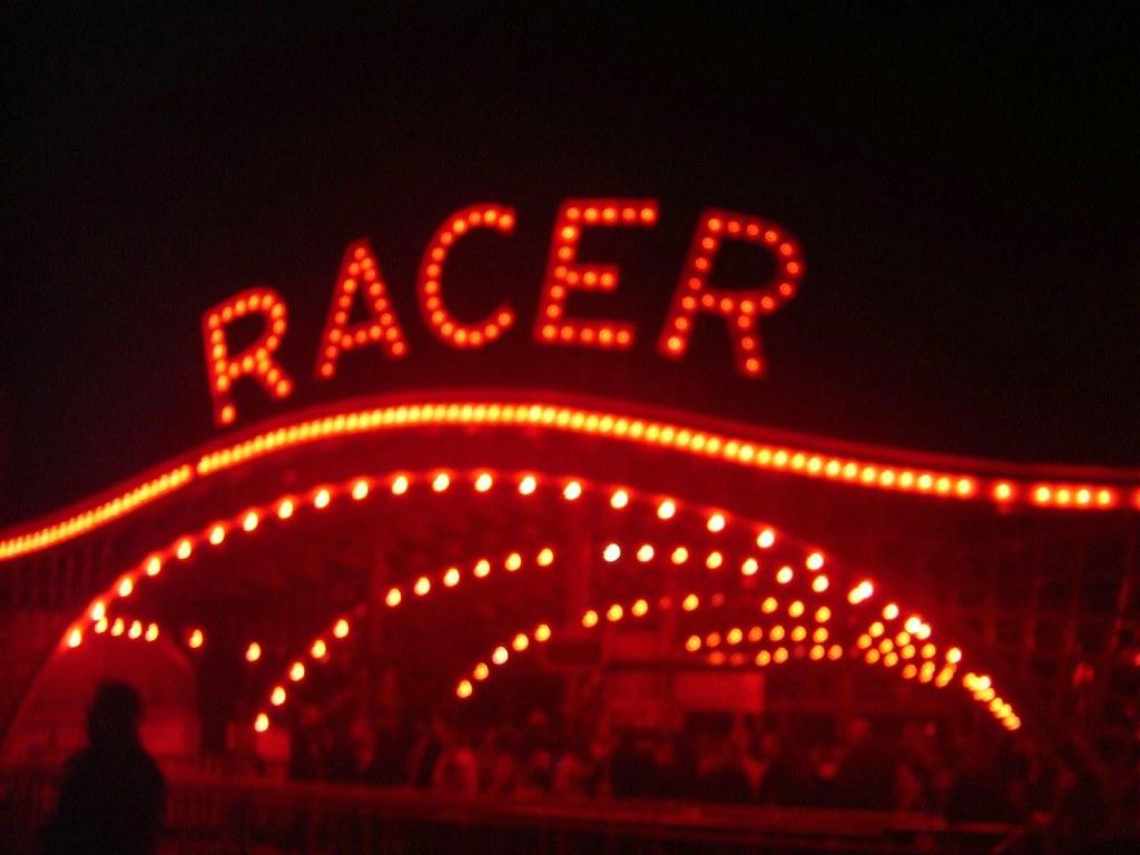 kennywood's racer roller coaster dressed up for halloween,… | flickr