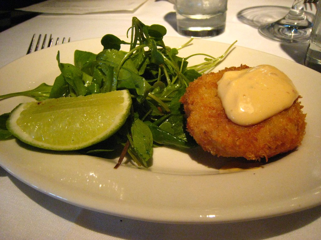 Crab Cakes And Salad