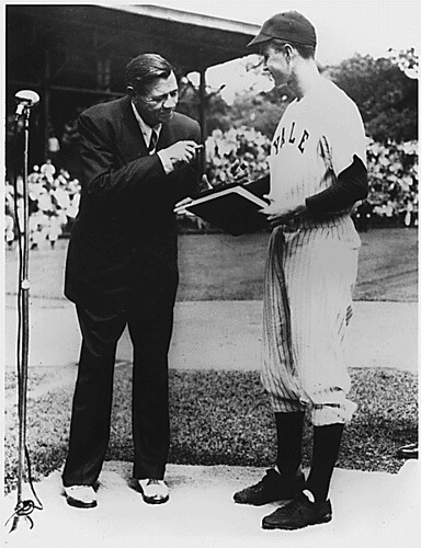 Public Domain A Young George H W Bush With Babe Ruth By