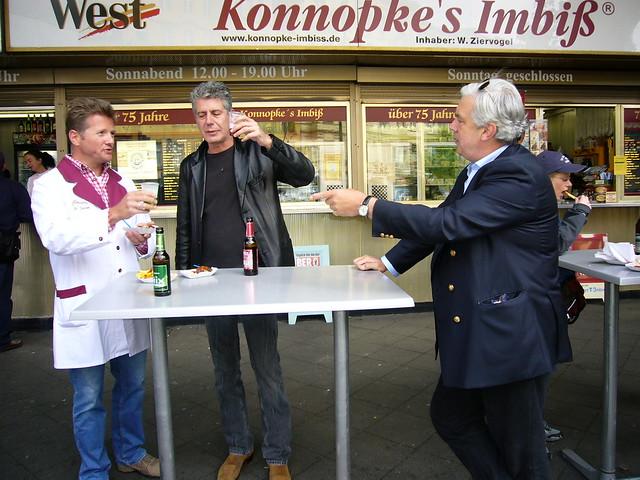 Anthony Bourdain in Berlin at Konnopke's