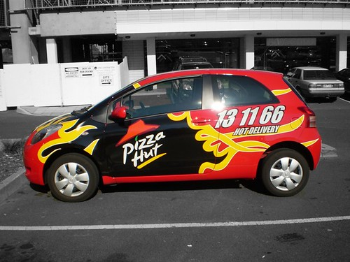 pizza hut car jeremy 39 s second shot at spot colour jeremy andrea flickr. Black Bedroom Furniture Sets. Home Design Ideas