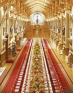 Windsor Castle State Banquet St George S Hall Windsor