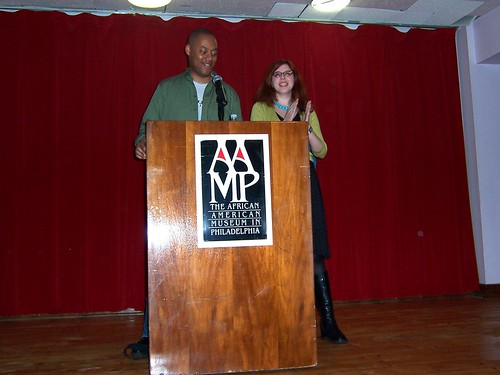 Masheka Wood and Mikhaela Reid announce the nominees for the Glyph Award for best comic strip... | by M1khaela