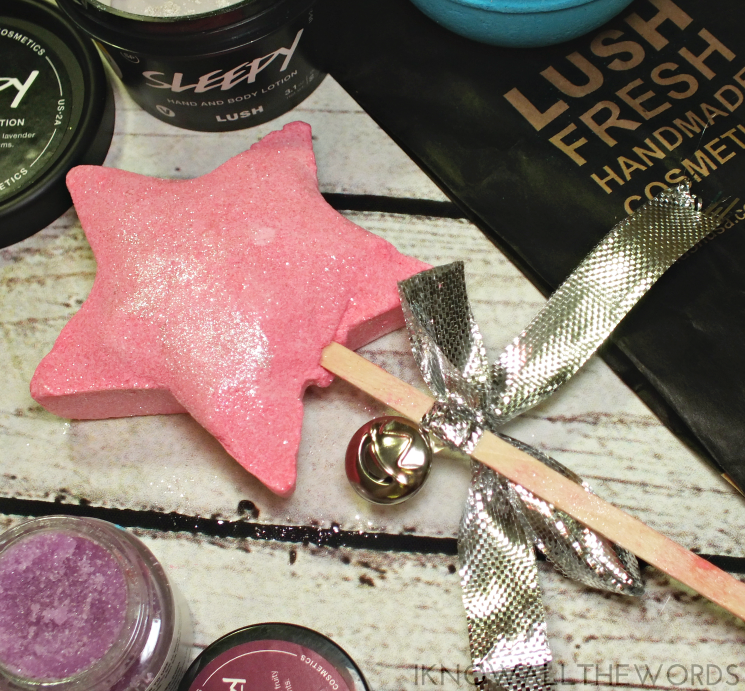 lush holiday 2016 magic wand bubble bar