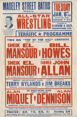 wrestling poster, hull - 1963 | by maraid