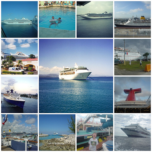 Collage Of Cruise Ships A Collage Of Various Cruise Ship