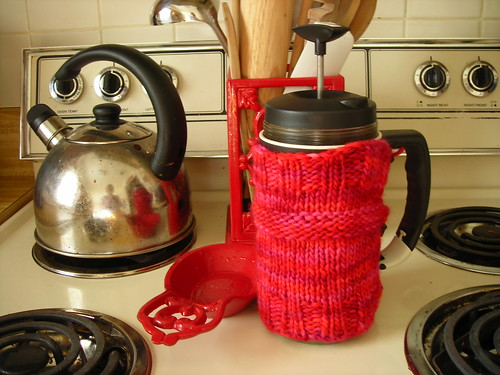 French Press Cozy in natural habitat | by staralee