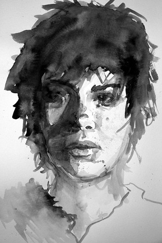 Portraits Paintings Black And White