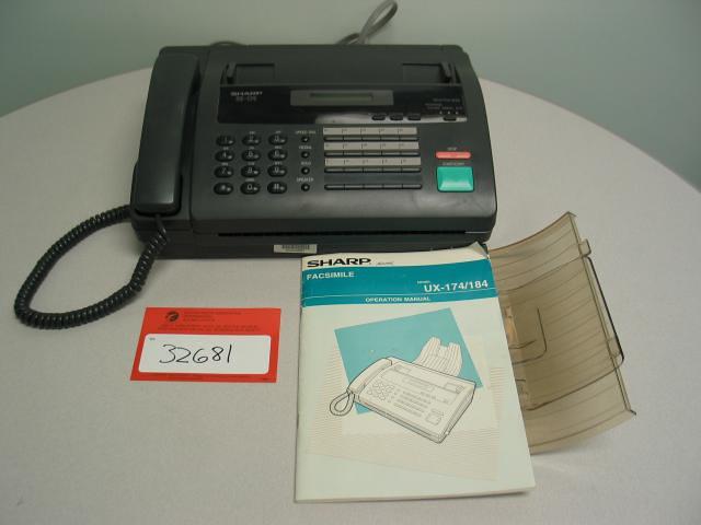 Sharp Ux 184 Fax Machine