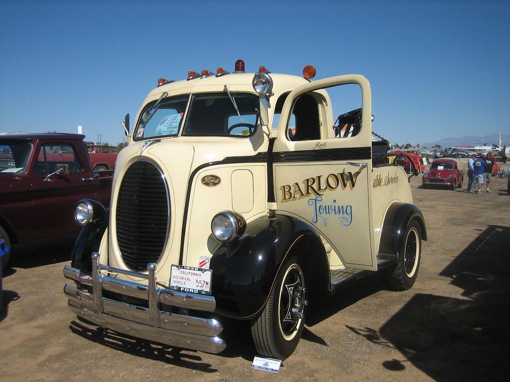 Ford Wrecker Coe 1938 Antique Truck Show March Air