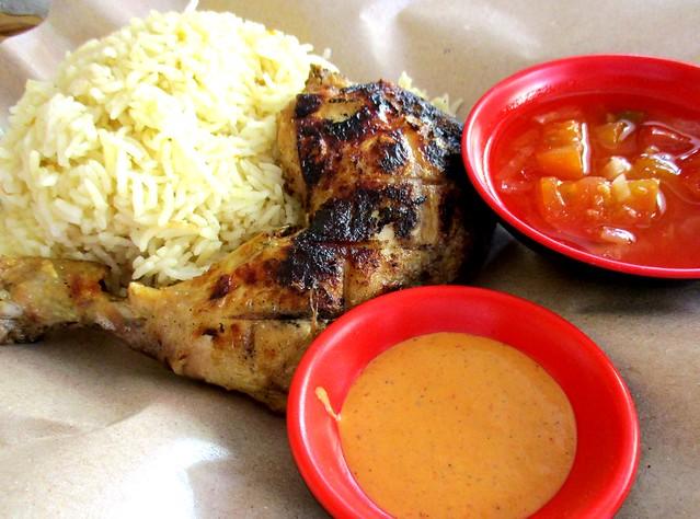 SEDC Hawker Stalls, Simpang Tiga - peri peri grilled chicken rice