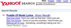 Puddle of Mudd - Lyrics Search (Yahoo!) | by Tamar Weinberg
