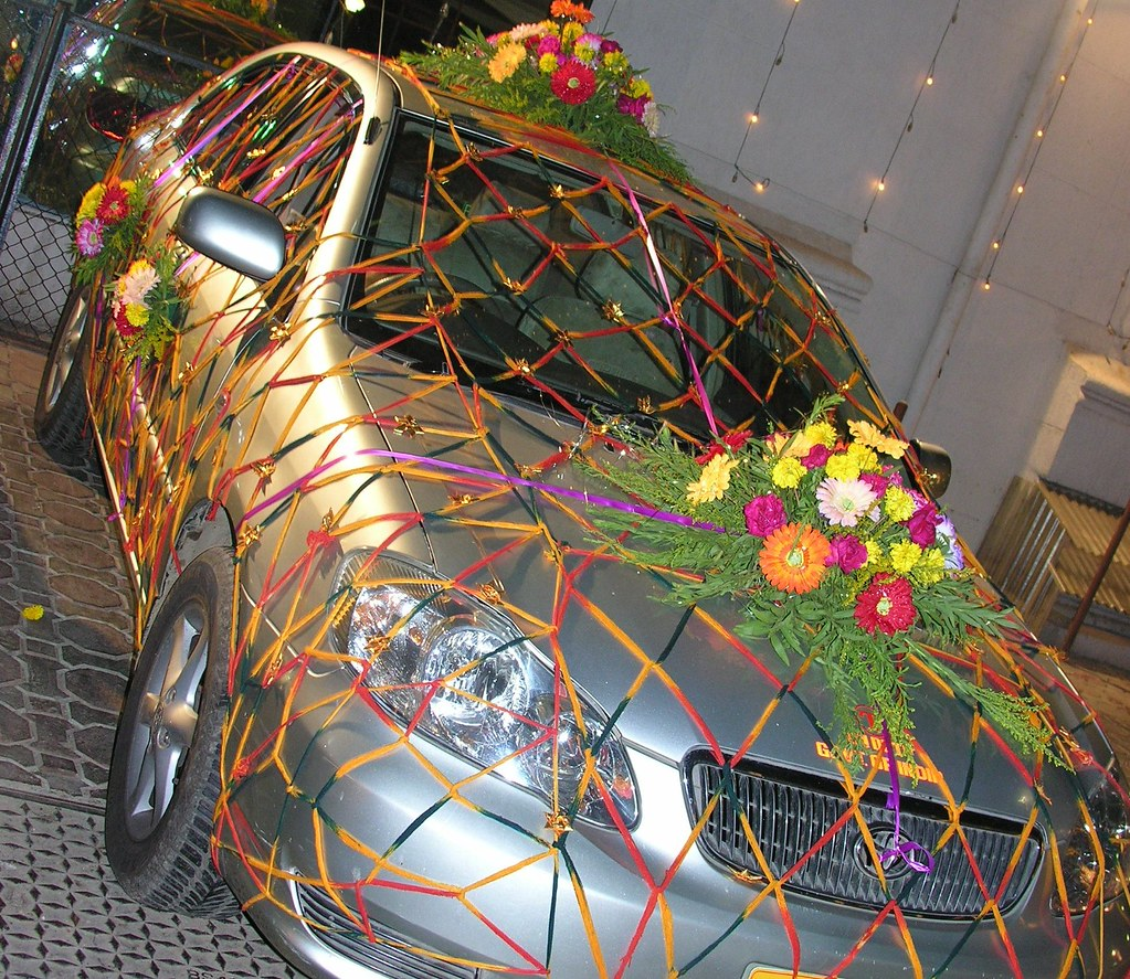 The evening bridal car | indian wedding car ...