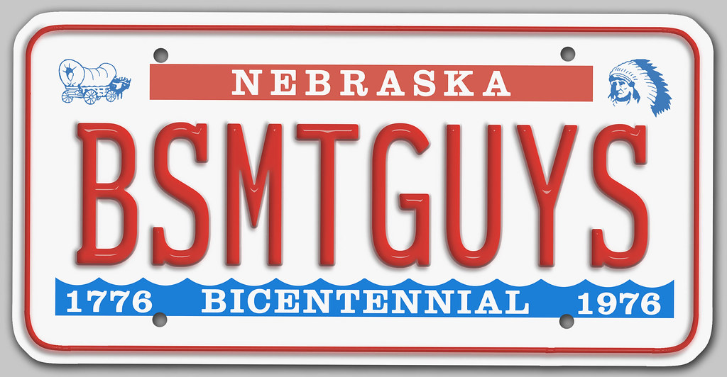 ... Basement Guys 1976 Nebraska License Plate | By JasonLiebig