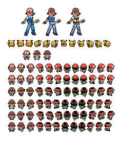 Ash Ketchum All Three Sprites I Made These Myself You Are Flickr