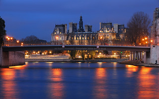 Paris City Hall by a Cloudy Night HDR | davidgiralphoto.com | by David Giral | davidgiralphoto.com