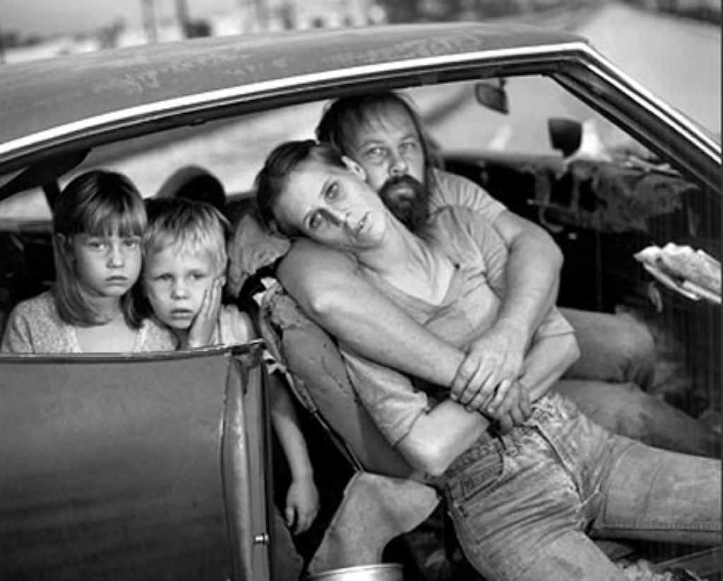 ... The Damm Family in Their Car, Los Angeles, CA, USA, 1987,