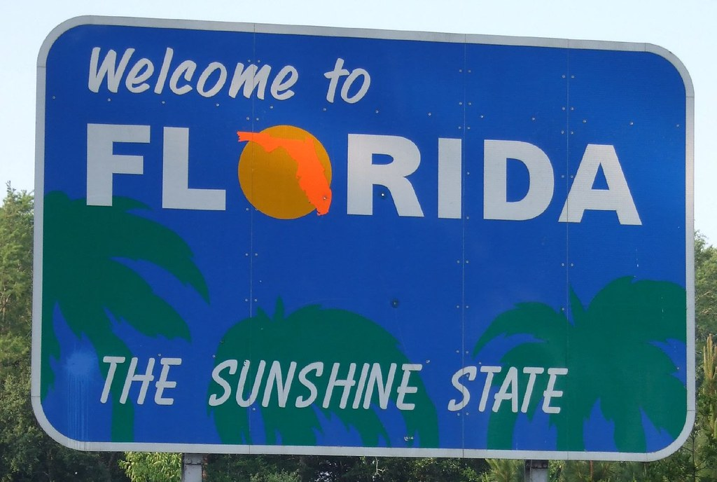 Florida State Sign Day 2 The State We Started Off In