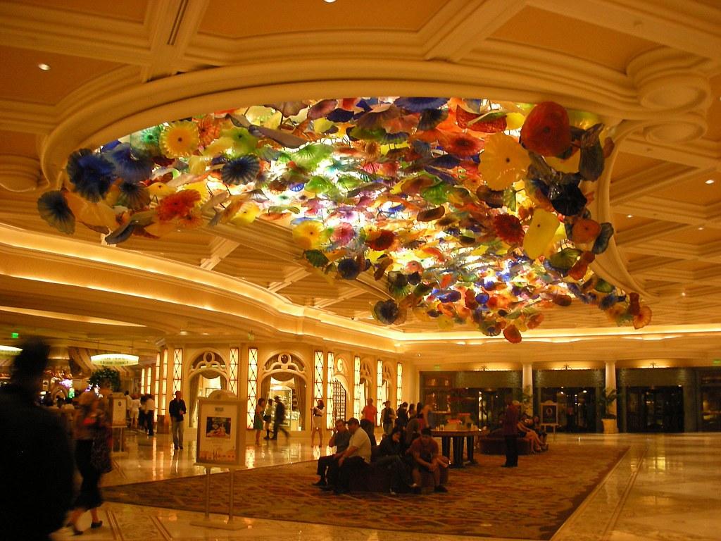 Hotel Lobby In Bellagio Las Vegas We Slept Very Late On