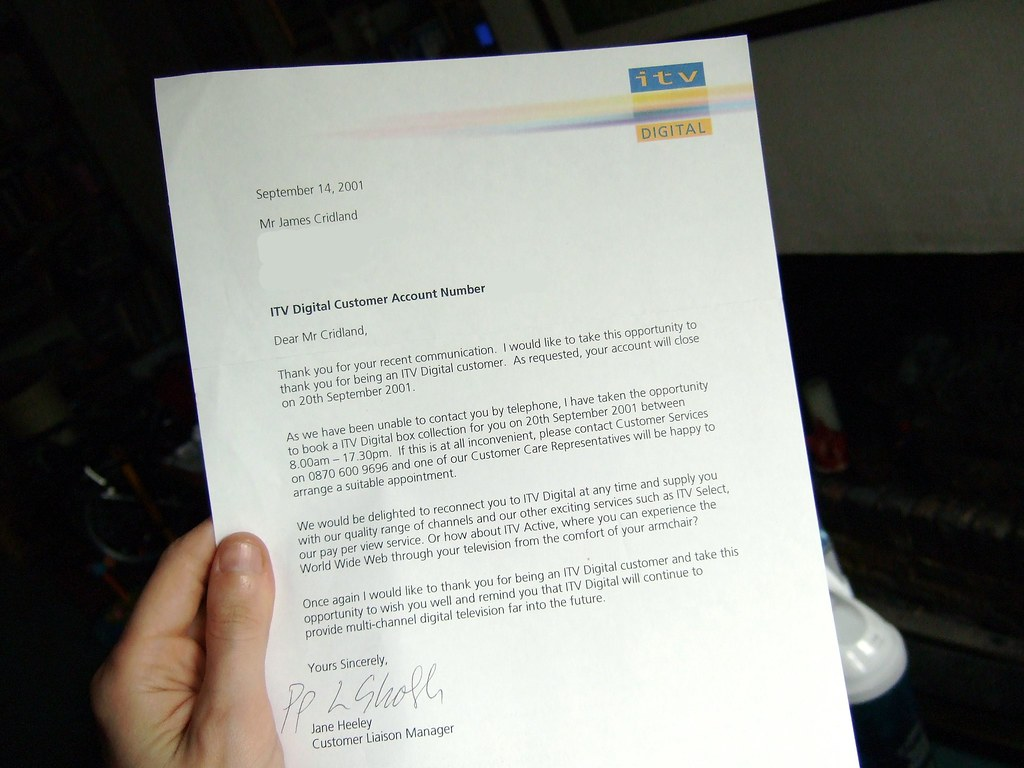 Itv digital recall letter theres something wonderful ab flickr itv digital recall letter by james cridland thecheapjerseys Gallery