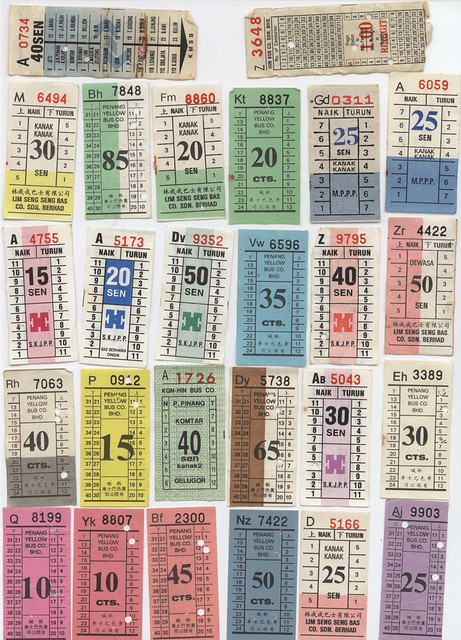 old penang bus tickets