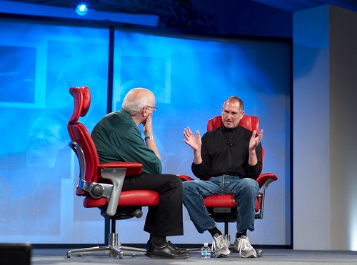 Walt Mossberg and Steve Jobs | by Joi